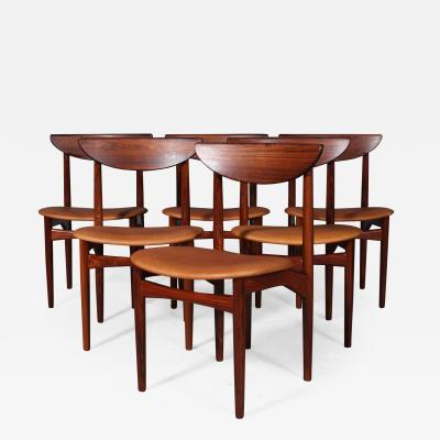Kurt stervig Kurt Ostervig Kurt stervig Six rosewood chairs 6