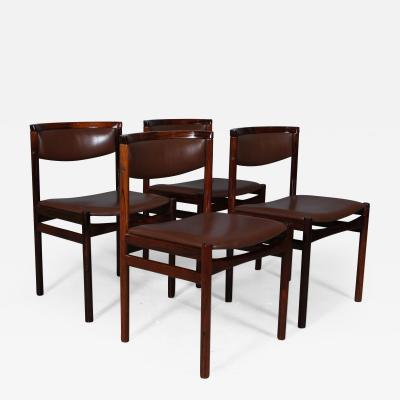 Kurt stervig Kurt Ostervig Kurt stervig four rosewood dining table chairs 1960s 4