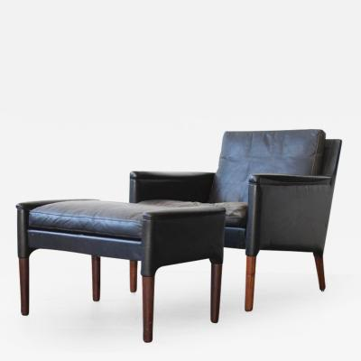 Kurt stervig Kurt stervig Leather Lounge Chair and Ottoman