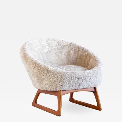 Kurt stervig Kurt stervig Sheepskin Lounge Chair Model 57A Rolschau M bler Denmark 1958