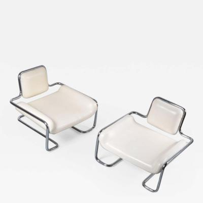 Kwok Ho Chan 1971s Pair of Limande Chairs by Kwok Ho Chan for Steiner in France