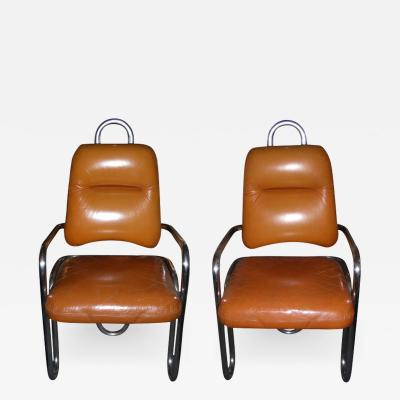 Kwok Ho Chan Two 1971 armchairs by Kwok Hoi Chan for Steiner