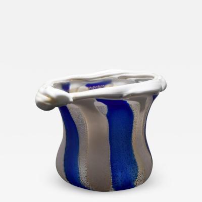 Kyohei Fujita Japanese Art Glass Sculptural Vessel by Kyohei Fujita