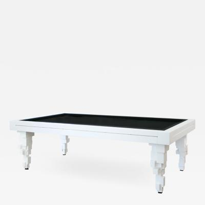 L A Studio L A Studio Contemporary Modern Brutalism Style White Pool Table