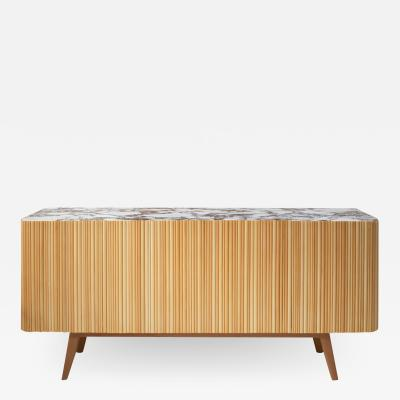 L A Studio L A Studio Contemporary Modern Linden and Lemongrass Wood Sideboard