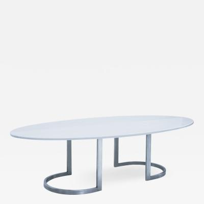 L A Studio L A Studio Contemporary Modern Marble and Steel Italian Center Table