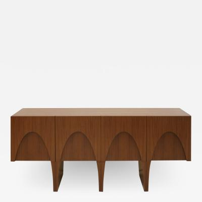 L A Studio L A Studio Contemporary Modern Teak and Lemongrass Wood Sideboard