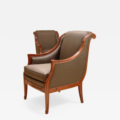 L on Jallot Leon Jallot Pair of Armchairs