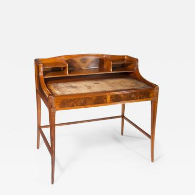 L on Jallot Leon Jallot Sculpted Walnut Desk and Chair