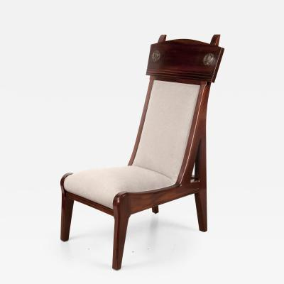 L on Jallot Single Chair by Leon Jallot 1874 1967 Art Nouveau France ca 1906