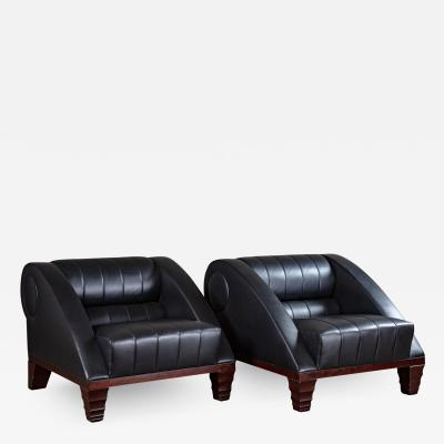 L on Krier PAIR OF LEON KRIERLE ARIES LOUNGE CHAIRS