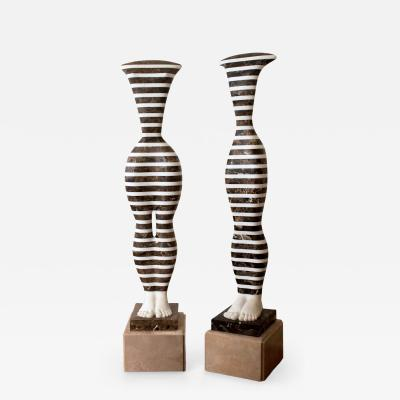 L szl Taubert Striped Idols IV