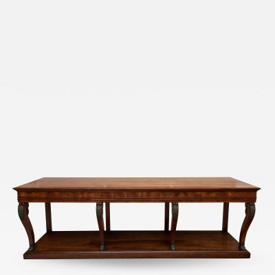 LARGE EARLY 19TH CENTURY FRENCH FRUITWOOD CONSOLE TABLE CIRCA 1825