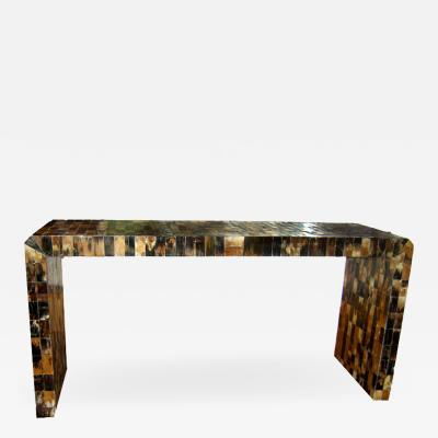 LARGE HORN VENEERED CONSOLE