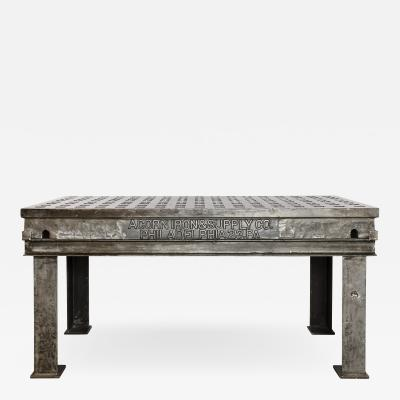 LARGE INDUSTRIAL WORK TABLE