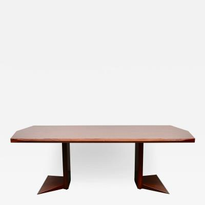 LARGE ROSEWOOD TABLE DESK