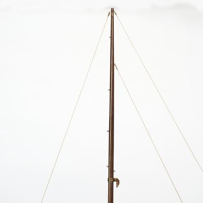 LARGE ROSEWWOOD POND YACHT SHIP MODEL