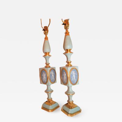 LARGE WEDGWOOD LAMPS