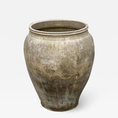 LARGE unglazed grey pot