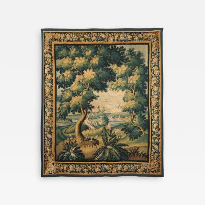 LATE 17TH CENTURY AUBUSSON VERDURE TAPESTRY