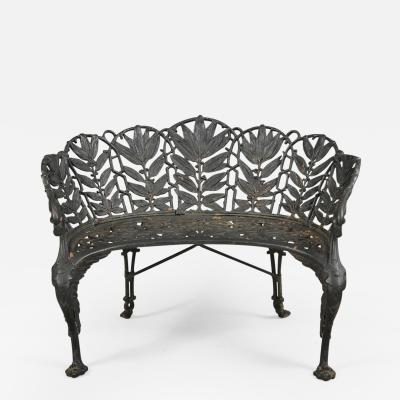 LAUREL PATTERN GARDEN BENCH