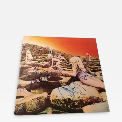 LED ZEPPELIN HOUSES OF THE HOLY AUTOGRAPHED RECORD ALBUM