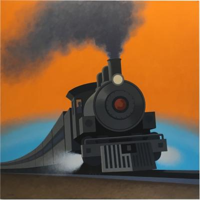 LOCOMOTIVE Original painting by Lynn Curlee