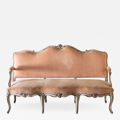 LOUIS XV PAINTED BEECH CANAP OR SOFA