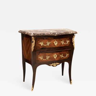LOUIS XV PERIOD SMALL BOMB ROSEWOOD COMMODE circa 1750