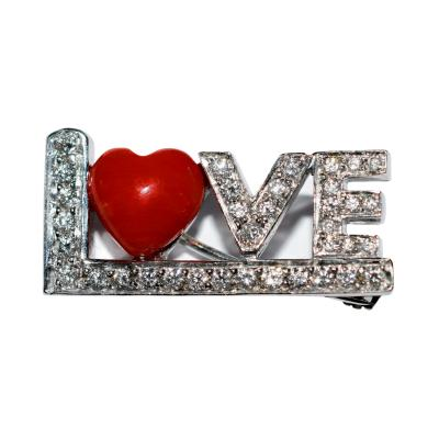 LOVE Brooch A Cipullo