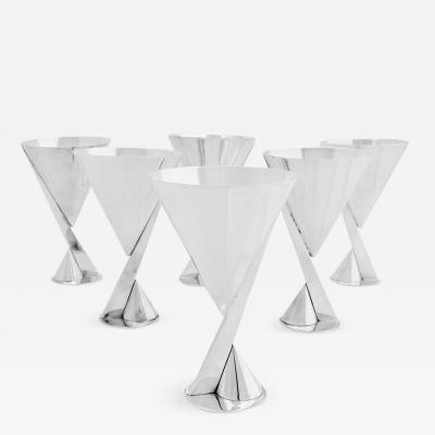 La Maison Desny Set of 6 Silver Cups by La Maison Desny