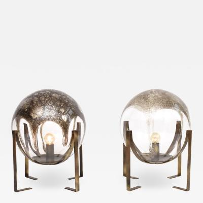 La Murrina A pair of 2 La Murrina Murano table or floor lamps