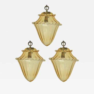 La Murrina Set of Three Vintage Italian Pendants Designed by La Murrina c 1960s