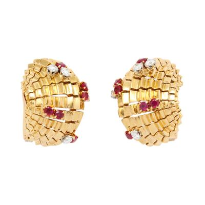 Lacloche Fr res LaCloche Ruby Diamond Earclips