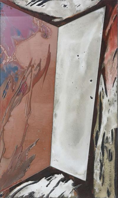 Laddie John Dill American Expressionist Oil Glass and Mixed Media Painting Laddie John Dill
