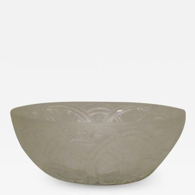 Lalique French lalique art glass bowl