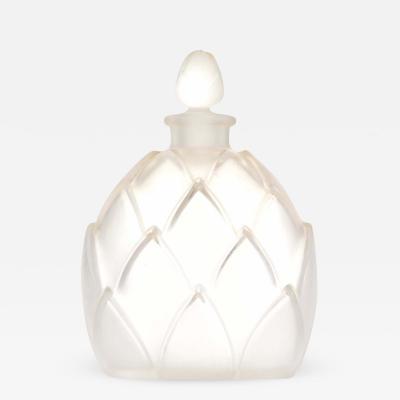 Lalique Lalique Art Deco Frosted Glass Perfume Bottle