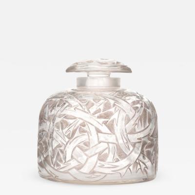 Lalique Lalique Art Deco Large Glass Perfume Bottle