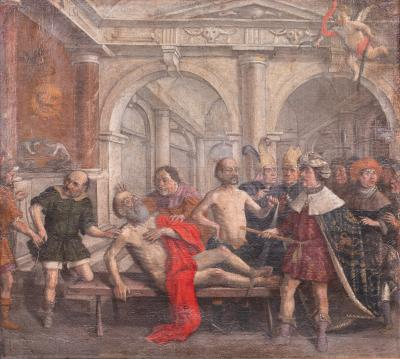 Lambert Lombard 16th Renaissance The Apostle Simon tortured in the Temple of the Sun