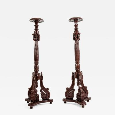 Laminated Wood Georges III Style Pedestal Stand