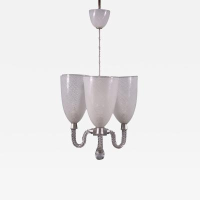 Lamp In The Style Of Venini Blown Glass Italy 1940s 1950s
