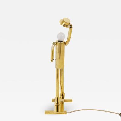 Lamp in gilt bronze 1930 s