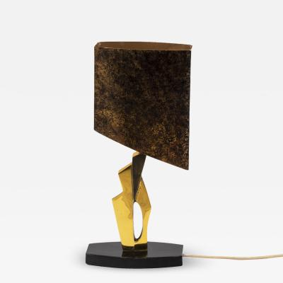 Lamp in gilt bronze and medal patina 1970s