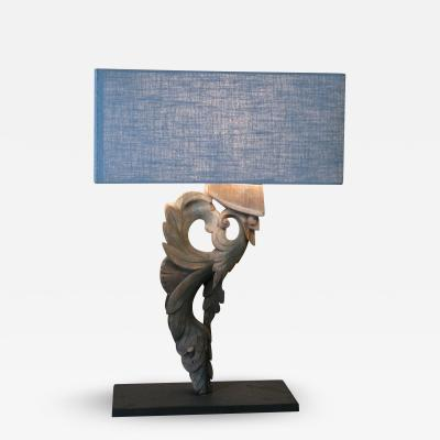 Lamp with linen lampshade