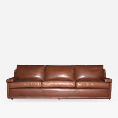 Lance Thompson Custom Made to Order Leather Sofa