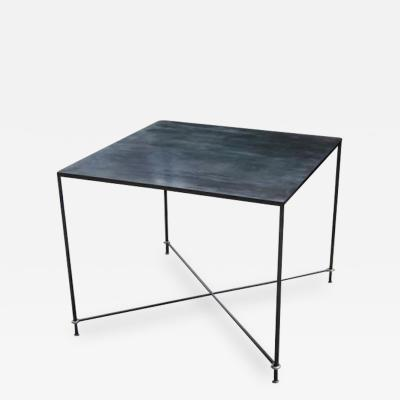 Lance Thompson Mies Steel Iron Table Hand Blackened Patina Made to Order