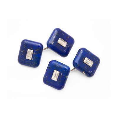 Lapis Diamond Cufflinks