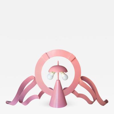 Lapo Binazzi Lapo Binazzi Rare MGM Lamp Prototype Pink Lacquered Metal 1969
