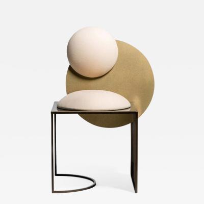 Lara Bohinc Celeste Chair Steel and Wool