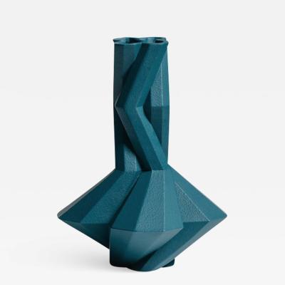 Lara Bohinc Fortress Cupola Vase Blue Ceramic